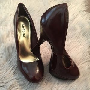 Wine Color Stiletto Heels Size 6 Women's EUC